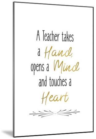 Teachers 1-Kimberly Allen-Mounted Art Print