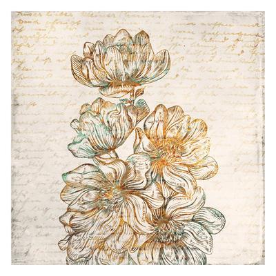 Floral Notes 2-Kimberly Allen-Framed Art Print