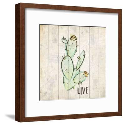Watercolor Cactus Live-Kimberly Allen-Framed Art Print