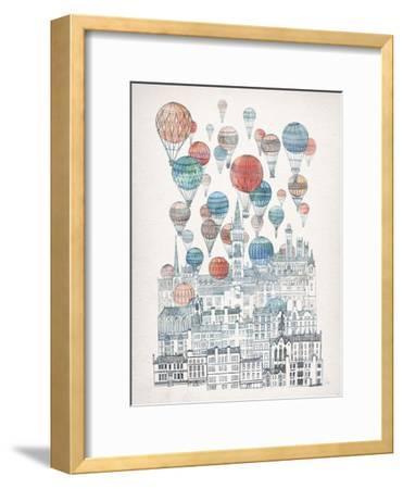 Voyages Over Glasgow-David Fleck-Framed Art Print