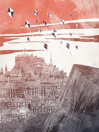 Kites At Dusk-David Fleck-Art Print