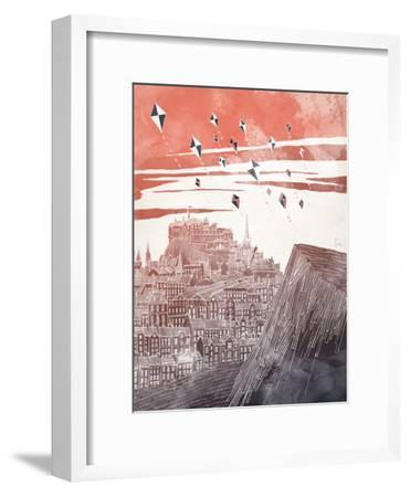 Kites At Dusk-David Fleck-Framed Art Print