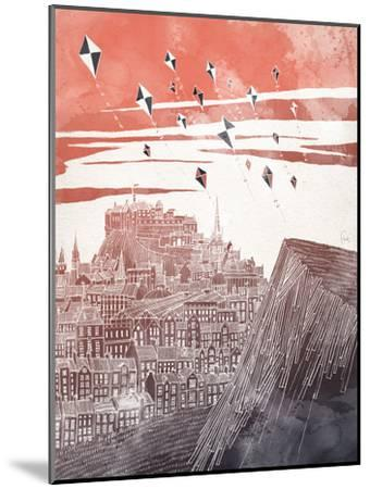 Kites At Dusk-David Fleck-Mounted Art Print