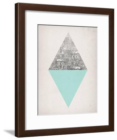 Diamond-David Fleck-Framed Art Print