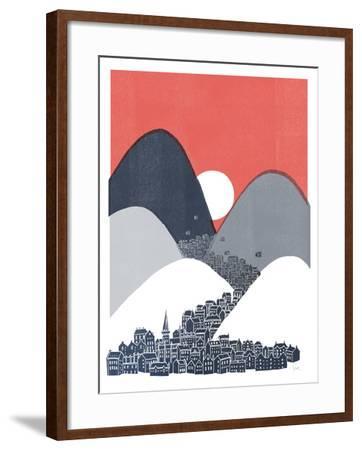 Midnight Sun-David Fleck-Framed Art Print