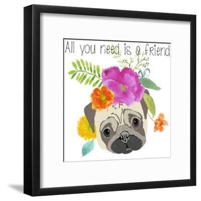 All You Need Is A Friend-Edith Jackson-Framed Art Print