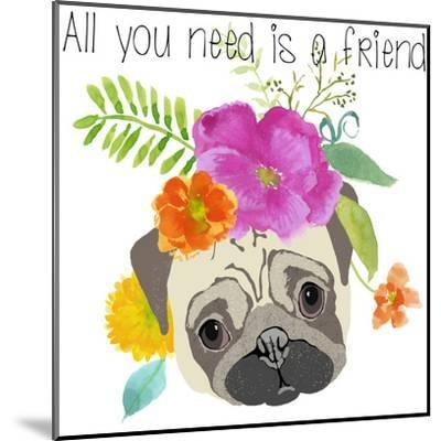 All You Need Is A Friend-Edith Jackson-Mounted Art Print