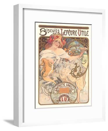Art Nouveau Cookie Ad-Found Image Press-Framed Art Print
