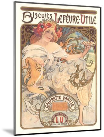 Art Nouveau Cookie Ad-Found Image Press-Mounted Art Print