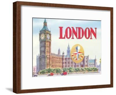 Big Ben London-Found Image Press-Framed Art Print