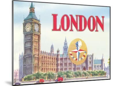 Big Ben London-Found Image Press-Mounted Art Print