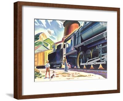 Big Old Train-Found Image Press-Framed Art Print