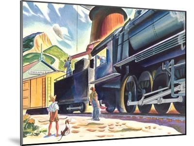 Big Old Train-Found Image Press-Mounted Art Print