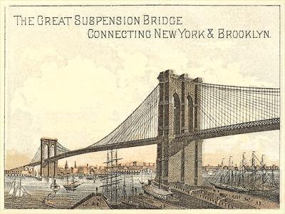 Brooklyn Bridge-Found Image Press-Framed Art Print
