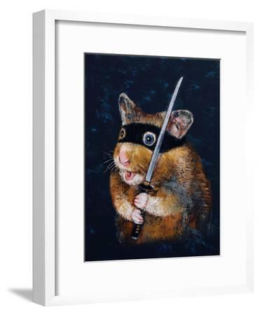 Ninja Hamster-Michael Creese-Framed Art Print