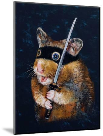 Ninja Hamster-Michael Creese-Mounted Art Print