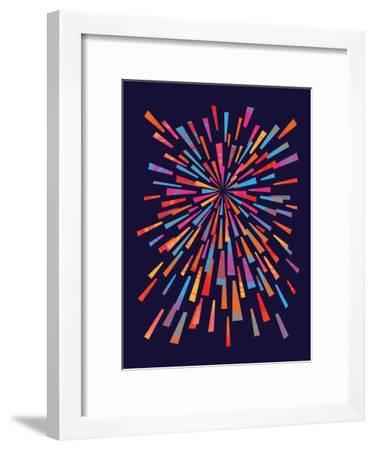 Fireworks-Joe Van Wetering-Framed Art Print