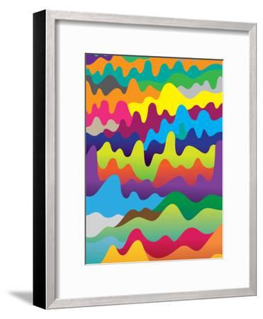 Waves-Joe Van Wetering-Framed Art Print