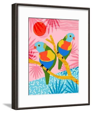 Besties-Wacka Designs-Framed Art Print