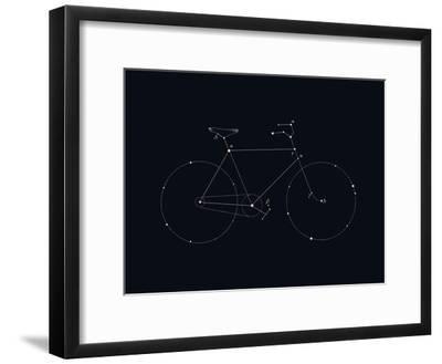 Bike Constellation-Florent Bodart-Framed Art Print