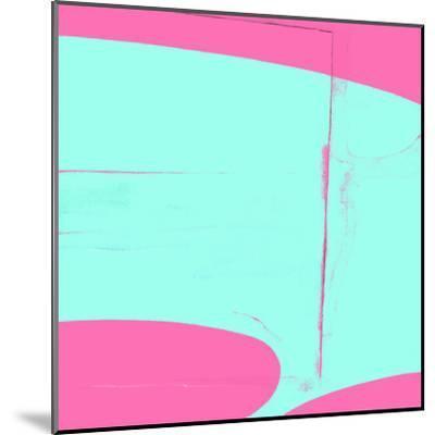 Pink And Cyan Abstract-Kasi Minami-Mounted Art Print