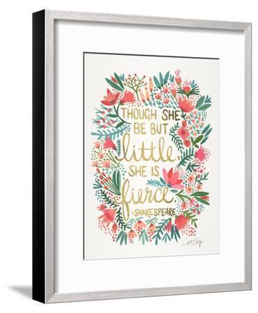 Little And Fierce-Cat Coquillette-Framed Art Print