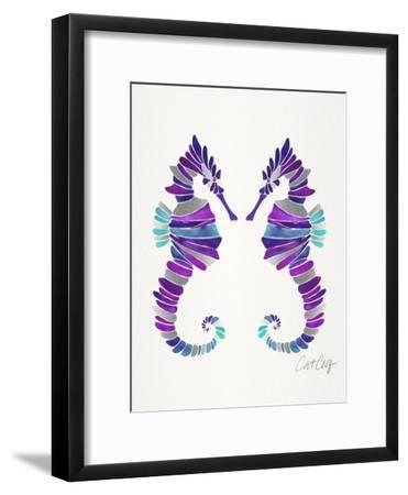 Seahorses-Cat Coquillette-Framed Art Print