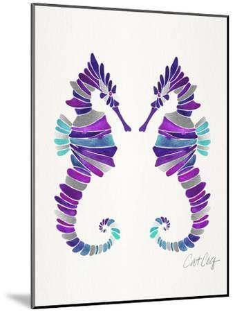 Seahorses-Cat Coquillette-Mounted Art Print