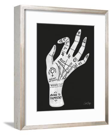 Palmistry Black And White-Cat Coquillette-Framed Art Print