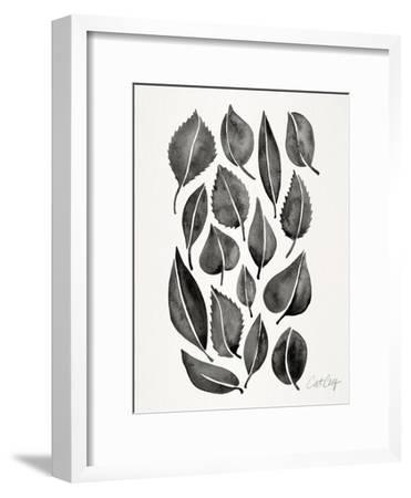 Black Fall Leaves-Cat Coquillette-Framed Art Print
