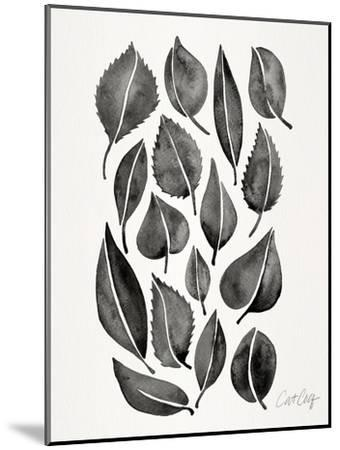 Black Fall Leaves-Cat Coquillette-Mounted Art Print