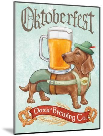 Beer Dogs III-Wild Apple-Mounted Art Print