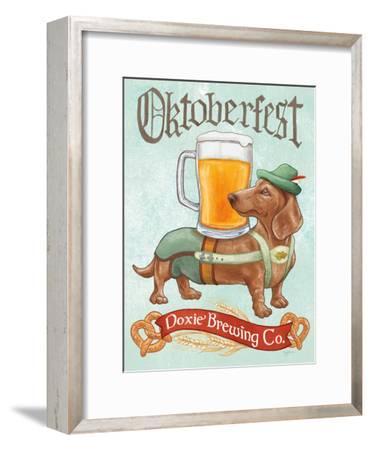 Beer Dogs III-Wild Apple-Framed Art Print