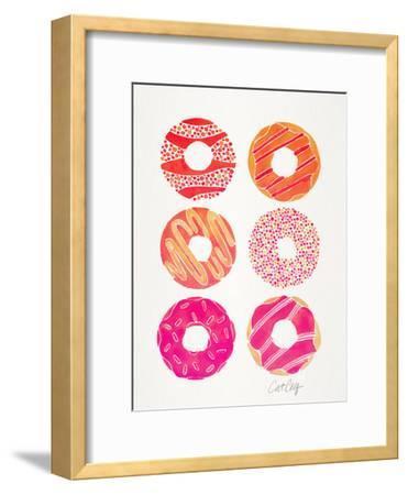 Pink Half Dozen Donuts-Cat Coquillette-Framed Art Print