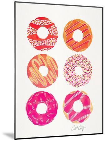 Pink Half Dozen Donuts-Cat Coquillette-Mounted Art Print