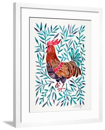 Lecoq Green Leaves-Cat Coquillette-Framed Art Print
