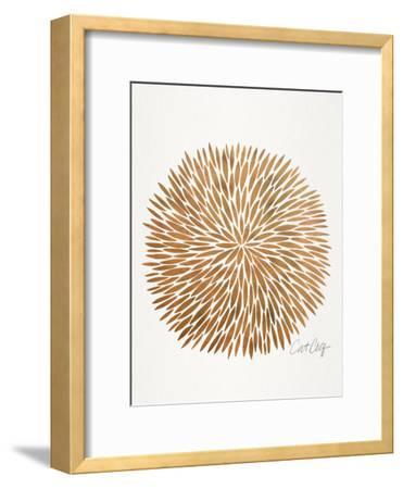 Rose Gold Burst-Cat Coquillette-Framed Art Print