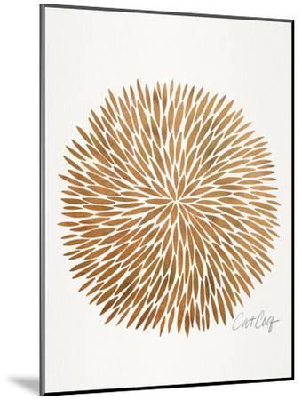 Rose Gold Burst-Cat Coquillette-Mounted Art Print