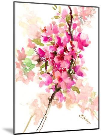 Cherry Blossom, Sakura 1-Suren Nersisyan-Mounted Art Print