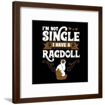 Ragdoll Cat Pet-Wonderful Dream-Framed Art Print