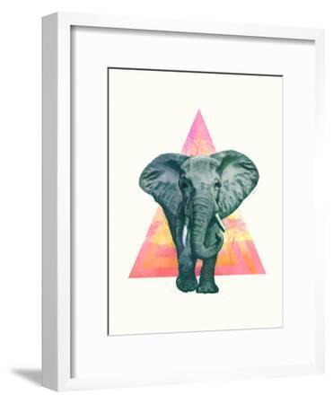 Elephant2-Laura Graves-Framed Art Print