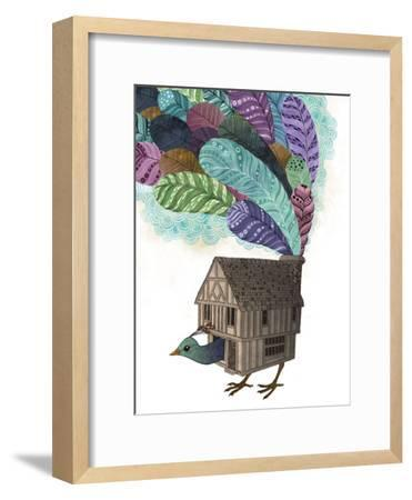 Bird House Revisited-Laura Graves-Framed Art Print