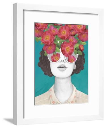 The Optimistrosetinted Glasses-Laura Graves-Framed Art Print