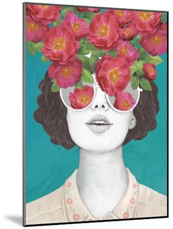 The Optimistrosetinted Glasses-Laura Graves-Mounted Art Print