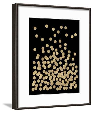 Gold Glitter Dots-Charlotte Winter-Framed Art Print