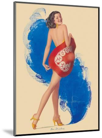 Brim Full of Beauty-Rolf Armstrong-Mounted Art Print