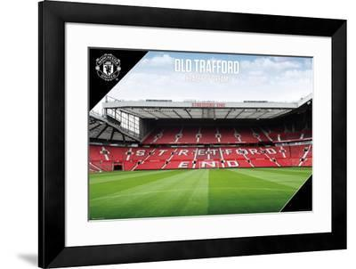 Man Utd Old Trafford 2017-2018--Framed Poster