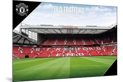 Man Utd Old Trafford 2017-2018--Mounted Poster