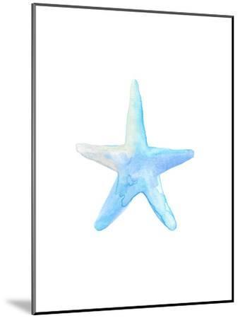 Blue Watercolor Starfish-Jetty Printables-Mounted Art Print