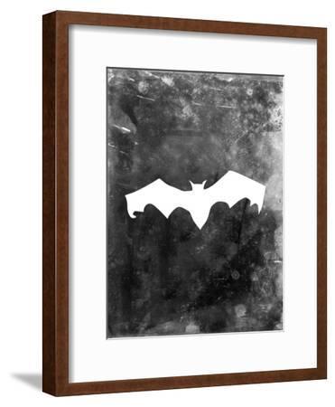 Black Bat Halloween-Jetty Printables-Framed Art Print